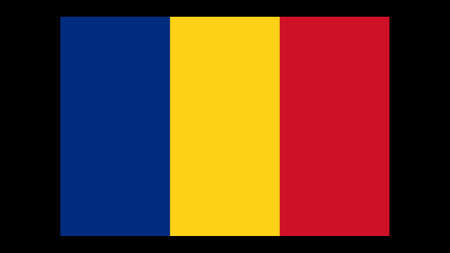National flag of Romania, width-length ratio 2:3 The basic design of the current Romanian flag Illustration