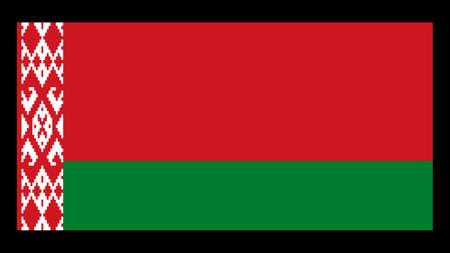 National flag of Belarus, 1:2 proportion. The basic design of the current Belarusian flag