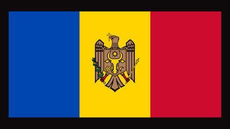 National flag of Moldova, 1:2 proportion. The basic design of the current Moldovan flag Illusztráció