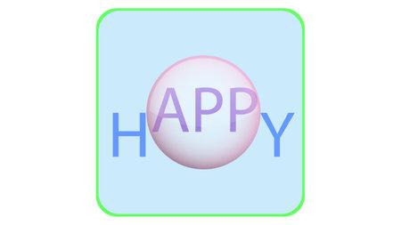 App icon vector design. Happy app, application icon 矢量图像