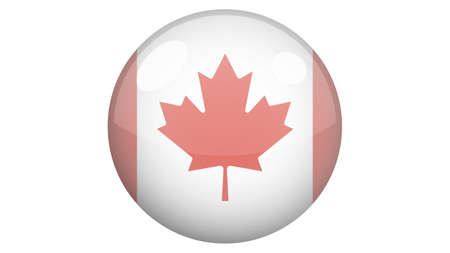National flag of Canada in icon design. Canadian flag vector