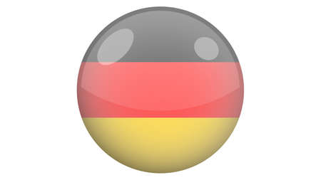 National flag of Germany in icon design. German flag vector