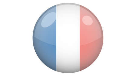 National flag of France in icon design. French flag vector 矢量图像