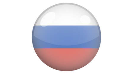 National flag of Russia in icon design. Russian flag vector