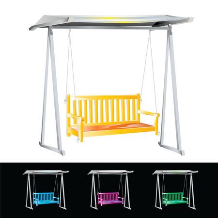 Garden Swing isolated on white. Vector, illustration. Stock Vector - 45222025