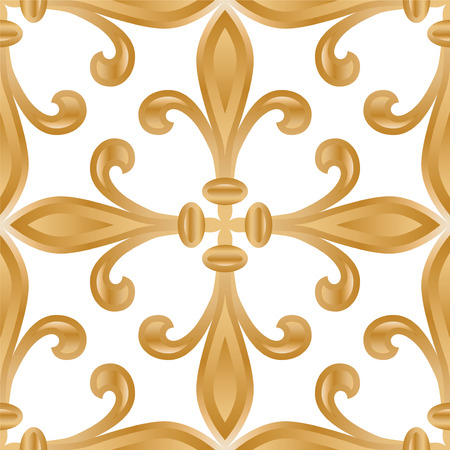 Abstract damask background pattern design. Seamless.