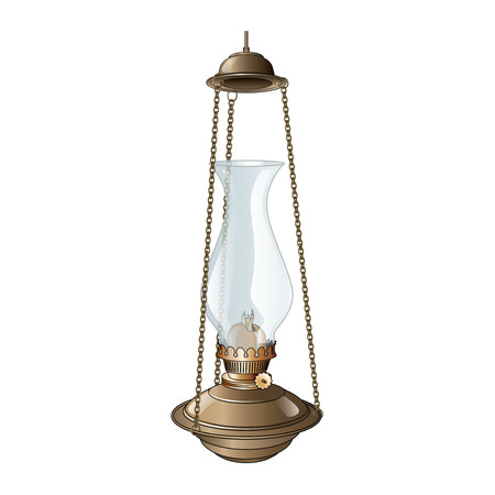 oil lamp Stock Vector - 110471408