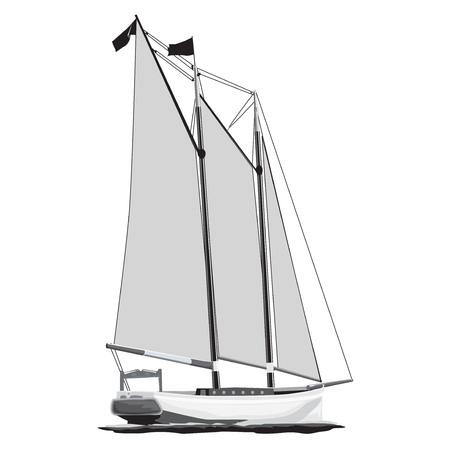 sailing boat in the sea Stock Vector - 112400209