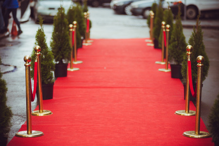 Red carpet - is traditionally used to mark the route taken by heads of state on ceremonial and formal occasions Stock fotó - 87923732