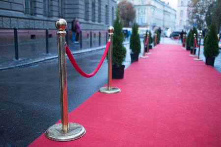 Red carpet is traditionally used to mark the route taken by heads of state on ceremonial and formal occasions