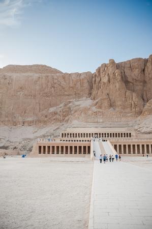 Mortuary Temple of Hatshepsut. Egypt. Luxor. Banco de Imagens