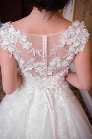 Beautiful Bride in wedding dress Banco de Imagens