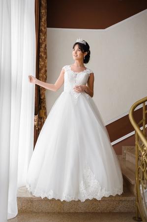 Beautiful bride wedding Banco de Imagens