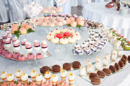 Tasty candies on the wedding Reklamní fotografie