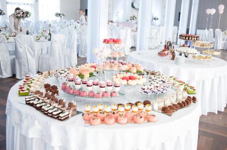 Tasty candies on the wedding
