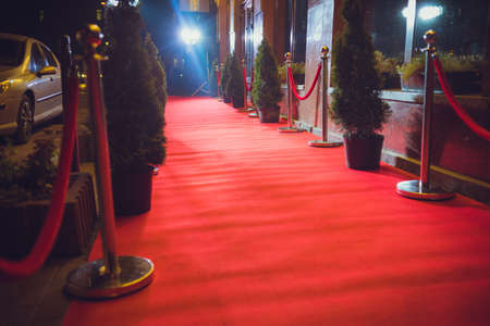 Red Carpet - is traditionally used to mark the route taken by heads of state on ceremonial and formal occasions Foto de archivo