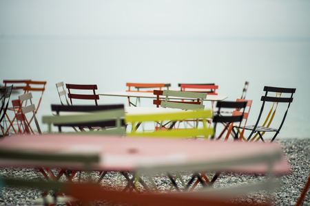 Chairs and tables for the beach