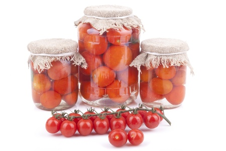 Fresh and canned tomatoes  photo