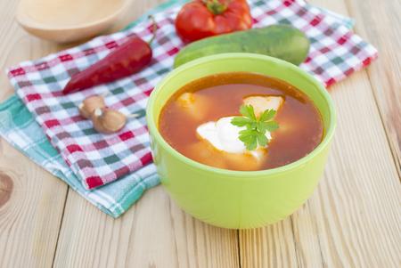 Red beet soup  borscht