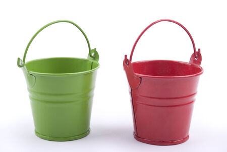 Bucket on a white background