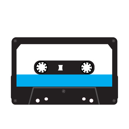 analogical: Cassette tape isolated on a white background Illustration
