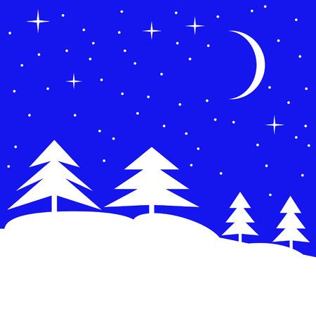 winter forest: Winter forest landscape. Vector illustration. Illustration