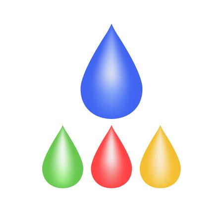 mildew: Multicolored drops. Vector illustration.
