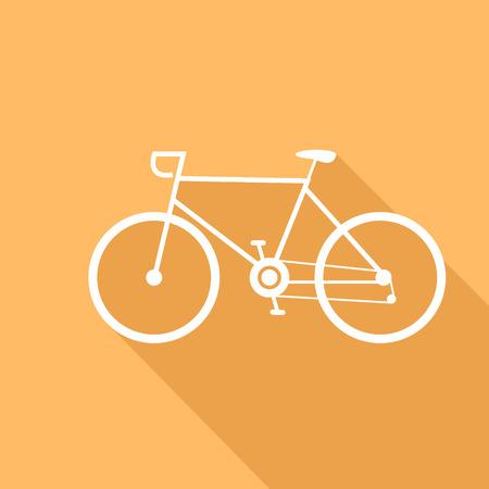 bike vector: Deporte ilustraci�n vectorial en bicicleta de un dise�o plano.
