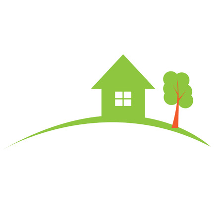 green house: Real estate construction. Vector illustration.