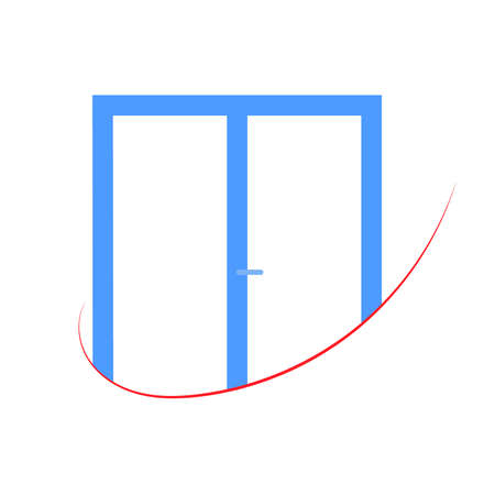 plastic window: Plastic window  for your business. Vector illustration.