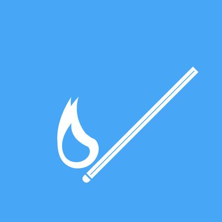 match: Vector icons burning match. Illustration
