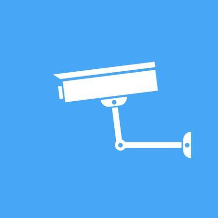 camera surveillance: Camera surveillance protection. Vector icon.