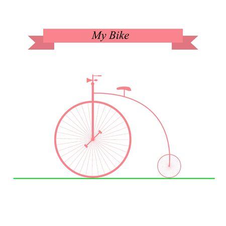 bike vector: Bici de la vendimia. Ilustraci�n del vector.