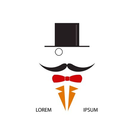 aristocracy: Gentleman with cylinder and a monocle. Vector illustration.