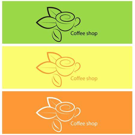 Coffee shop vector illustration. design elements. Vector