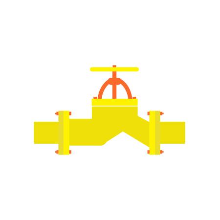 amoníaco: válvula de metal en la tubería. Ilustración del vector. Vectores