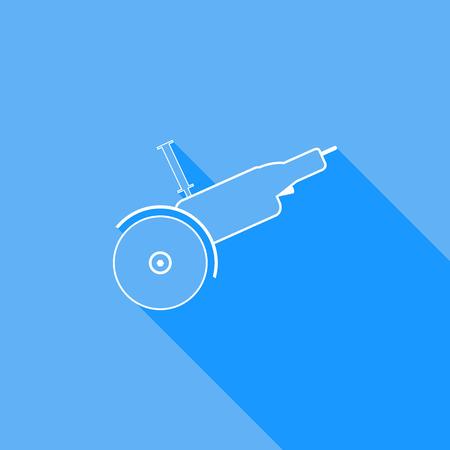 sharpening: Electric saw. Vector illustration.