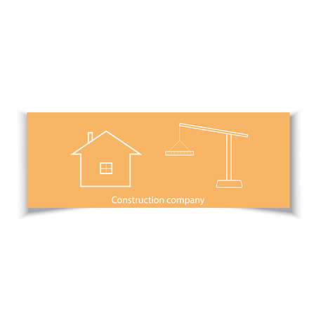 firms: Business card for construction company.
