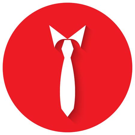 official wear: Tie men vector illustration in flat design. Illustration