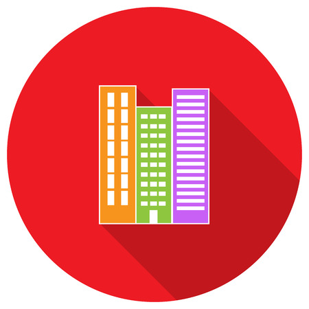property for sale: High-rise building residential apartments. Property For Sale. Vector illustration.
