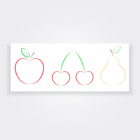 publicity: Apple pear cherry banner natural products.