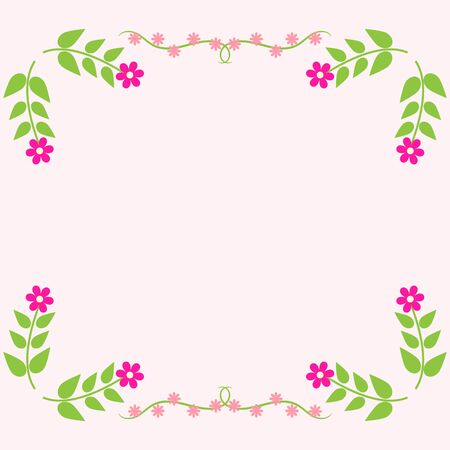 flower banner: Painted floral greeting card. Flower pattern.
