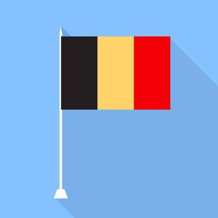 belgium flag: Belgium flag. Vector illustration.