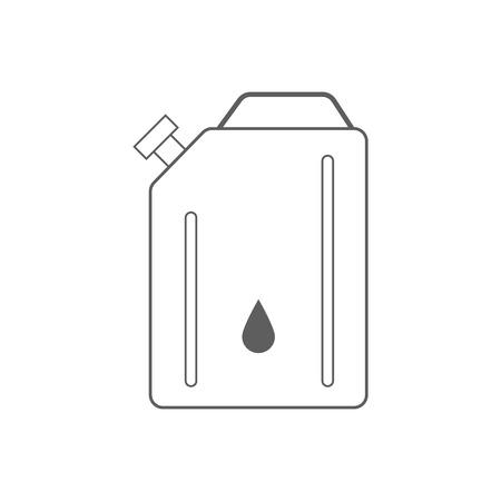 grease: Canister of gasoline. Illustration