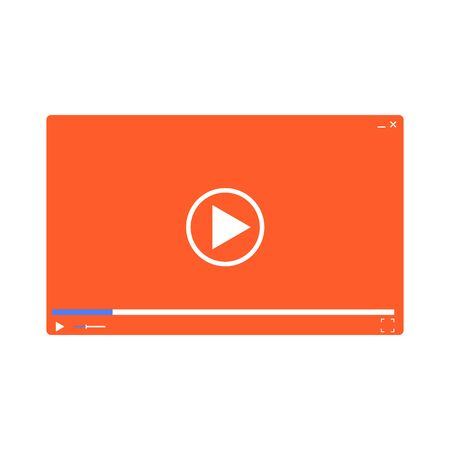 web template: Video player template for web. Illustration