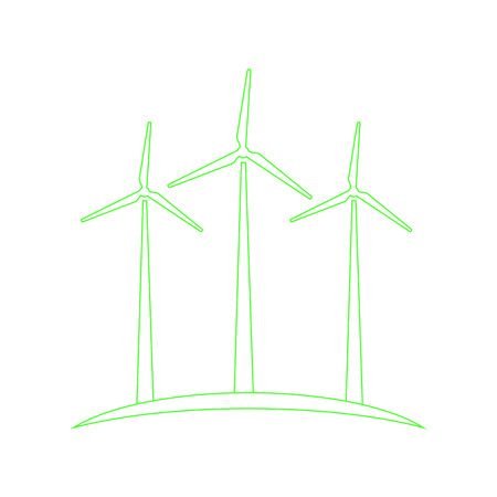 energies: Wind turbines concept of ecological energy production.