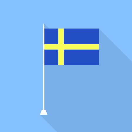 swedish: Swedish flag. Vector illustration.