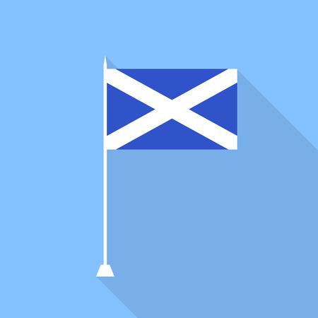 scots: Scotland Flag. Vector illustration.