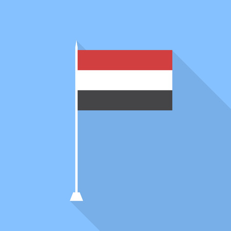 yemen: Flag of Yemen. Vector illustration.