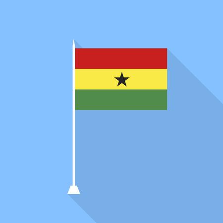 ghana: Flag of Ghana. Vector illustration.